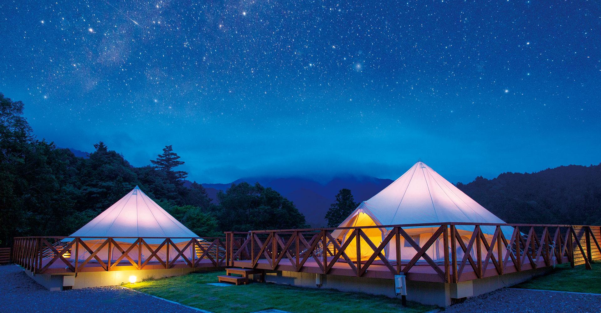 四万十の瞬く星空の下で大自然を満喫!『スカイヒルグランピング』イメージ