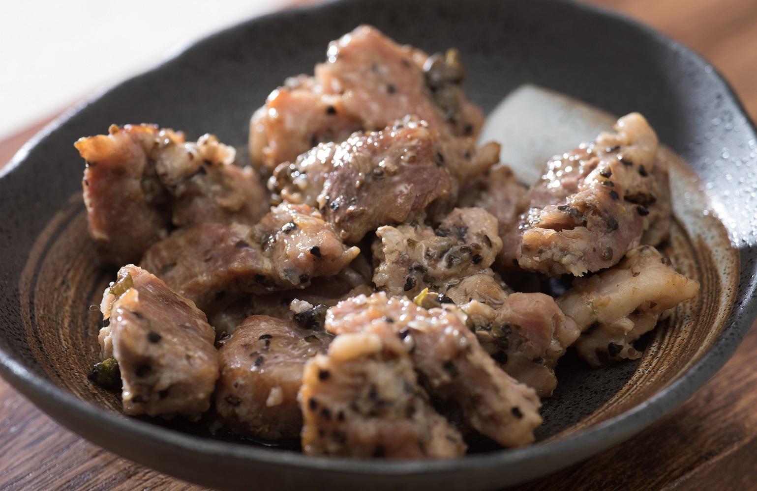 ブラックペッパーが香るおつまみに最適、塩胡椒焼きイメージ